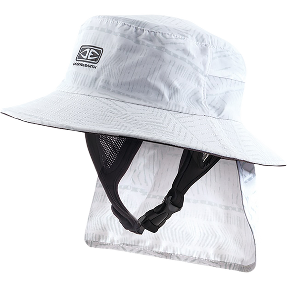 Ocean and Earth Mens Indo Stiff Peak Surf HAT - Xl-White