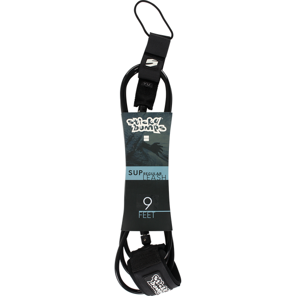 Sticky Bumps Sup Regular 9' Leash Black