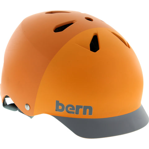 Bern Watts Matte Orange Hatstyle HardHat - XL Skateboard Helmet| Universo Extremo Boards