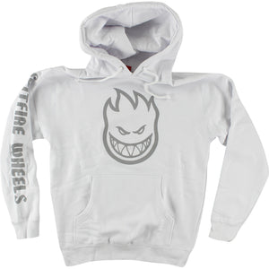 Spitfire Bighead Sleeve Hooded Sweatshirt - X-LARGE White/Grey | Universo Extremo Boards Skate & Surf