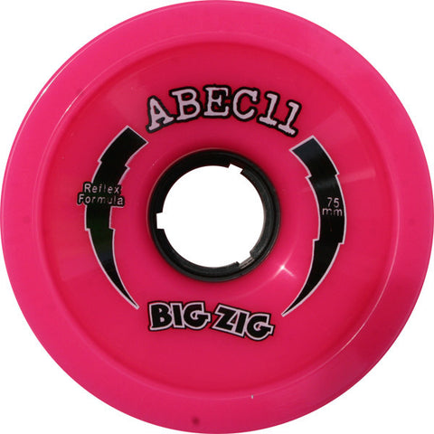 Abec 11 BigZigs Pink Longboard Wheels - 75mm 77a (Set of 4) - Universo Extremo Boards