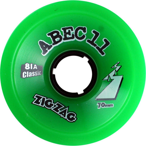 Abec 11 Classic Zigzags 70mm 81a Green Longboard Wheels (Set Of 4) - Universo Extremo Boards