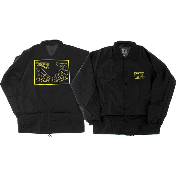 Doom Sayers Snake Shake Coaches Jacket S-Black/Yellow | Universo Extremo Boards Skate & Surf