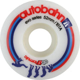 Autobahn Evolution 52mm 101a White Skateboard Wheels (Set of 4) - Universo Extremo Boards