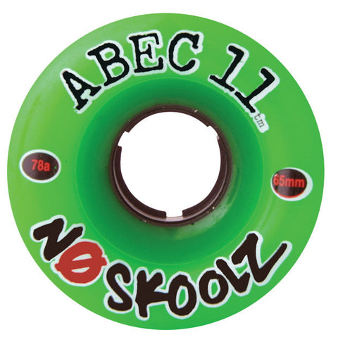 Abec 11 NoSkoolZ Green Longboard Wheels - 65mm 92a (Set of 4) - Universo Extremo Boards