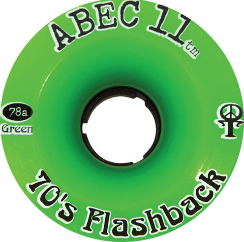 Abec 11 Flashbacks Green Longboard Wheels - 70mm 75a (Set of 4) - Universo Extremo Boards
