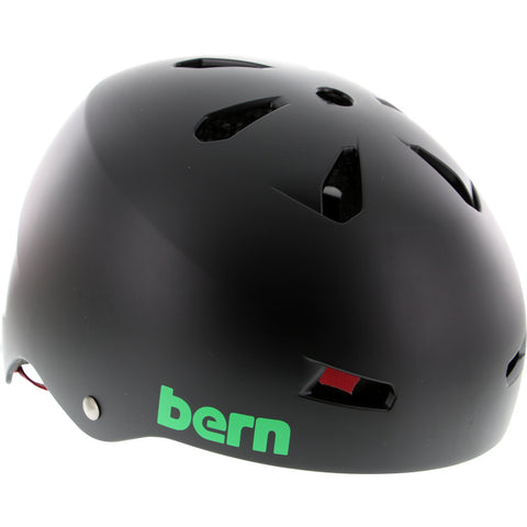 Bern Macon Matte Black Rasta Skateboard Helmet - MEDIUM | Universo Extremo Boards Skate & Surf