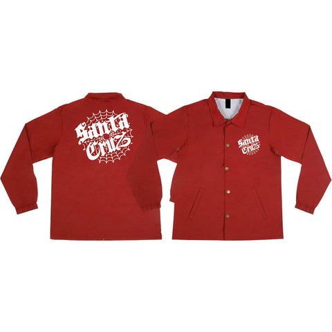 Santa Cruz Cob Web Windbreaker S-Cardinal Red | Universo Extremo Boards Skate & Surf