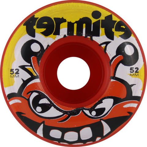 Termite Tommy Red Skateboard Wheels - 52mm (Set of 4) - Universo Extremo Boards