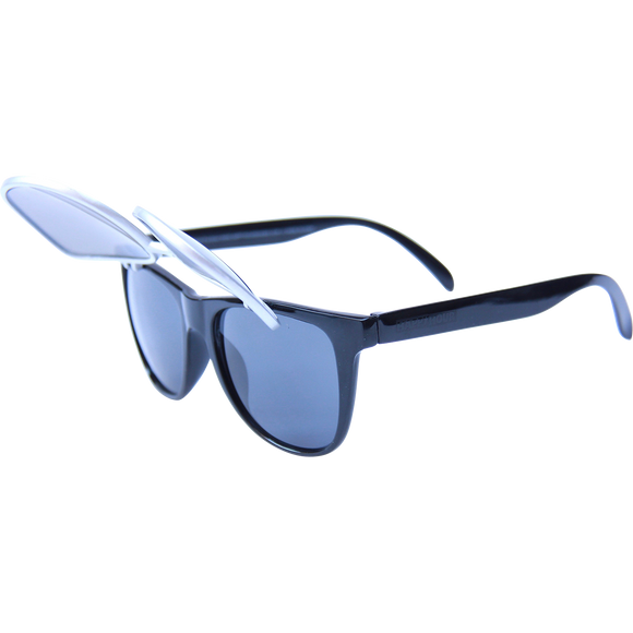 Happy Hour Sunglasses Flip Up Silver Bullets