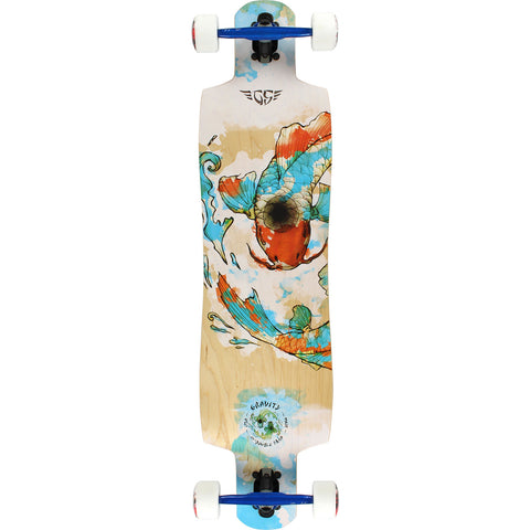Gravity Double Drop 38 Karma Natural Compete Longboard - 10x38 | Universo Extremo Boards Skate & Surf