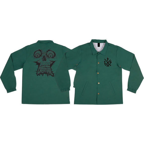 Creature Skinned Coach Jacket M-Forest Green | Universo Extremo Boards Skate & Surf