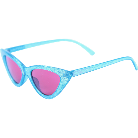 Happy Hour Sunglasses Space Needles Sparkle Blue Red