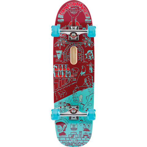 Sector 9 Tudor Mini Good Vibes Red Complete Skateboard - 9.25x31.5 | Universo Extremo Boards Skate & Surf