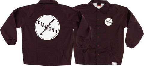 Diamond Lightning Coaches Jacket S-Burgundy | Universo Extremo Boards Skate & Surf