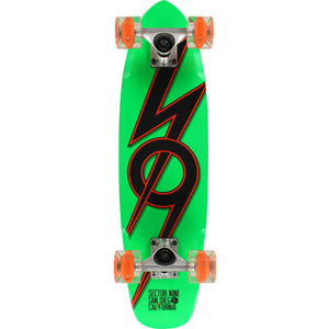 Sector 9 83 Glow Wheels Complete Skateboard -7.25x27.7 Green/Orange | Universo Extremo Boards Skate & Surf