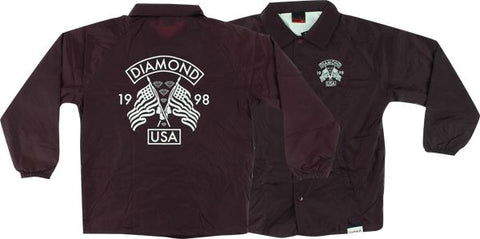 Diamond Usa Coaches Jacket L-Burgundy | Universo Extremo Boards Skate & Surf