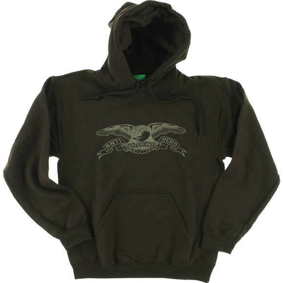 Antihero Basic Eagle Hooded Sweatshirt - X-LARGE Brown/Grey | Universo Extremo Boards Skate & Surf