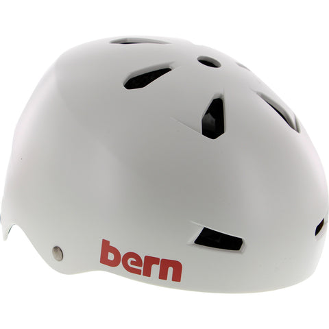 Bern Macon Satin Light Grey Skateboard Helmet - SMALL | Universo Extremo Boards Skate & Surf