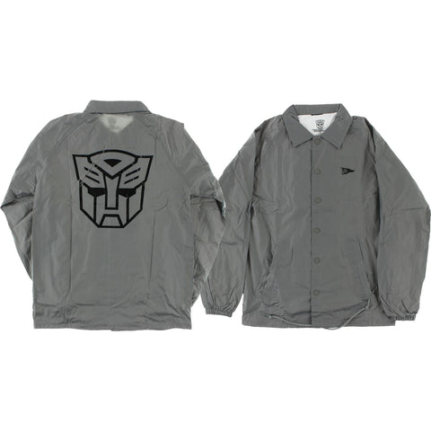 Primitive Autobots Coaches Jacket M-Grey | Universo Extremo Boards Skate & Surf