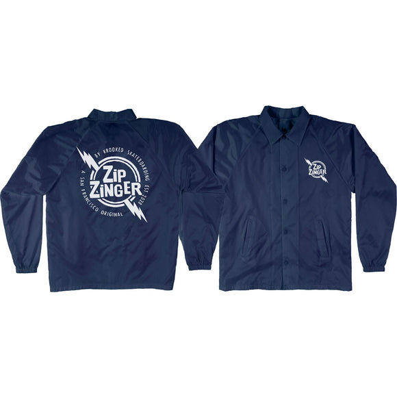 Krooked Zip Zinger Jacket xl-Navy/White | Universo Extremo Boards Skate & Surf