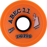 Retro Skateboard Wheels - ZigZags - 66mm/89a (DARK ORANGE PLUS) (Set of 4) - Universo Extremo Boards
