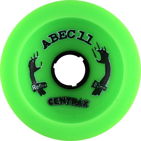 Abec 11 Classic Centrax Green Longboard Wheels - 77mm 75a (Set of 4) - Universo Extremo Boards