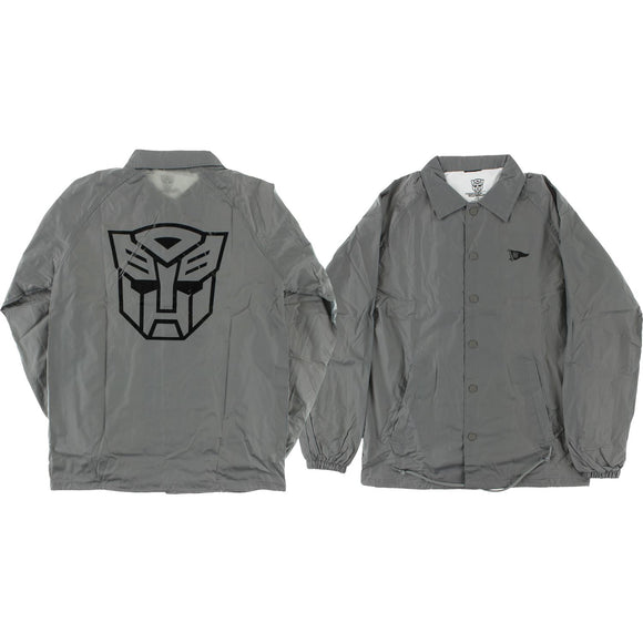 Primitive Autobots Coaches Jacket L-Grey | Universo Extremo Boards Skate & Surf