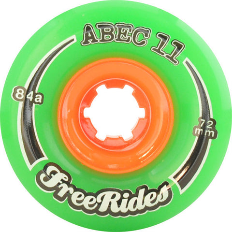 Abec 11 Freeride Green Longboard Wheels - 72mm 84a (Set of 4) - Universo Extremo Boards
