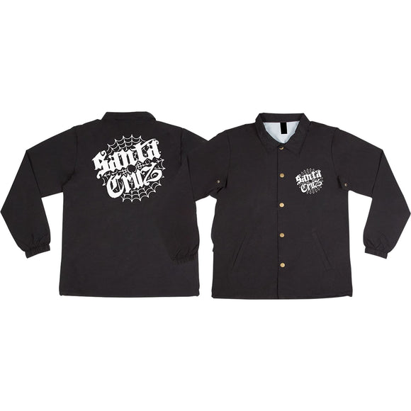 Santa Cruz Cob Web Windbreaker M-Black | Universo Extremo Boards Skate & Surf