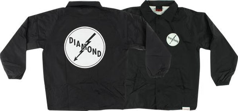 Diamond Lightning Coaches Jacket L-Black | Universo Extremo Boards Skate & Surf