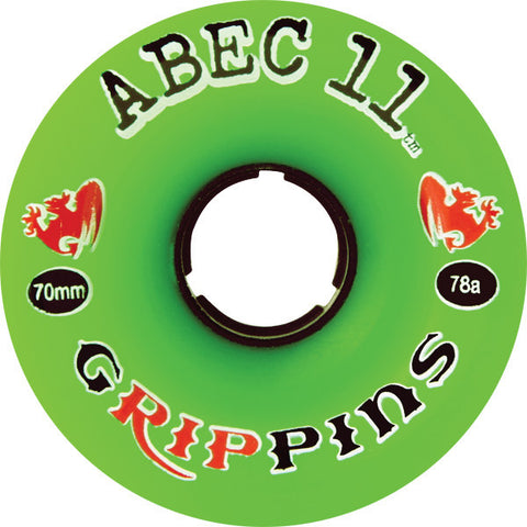 Abec 11 Grippins 70mm 81a Skateboard Wheels (Set Of 4) - Universo Extremo Boards