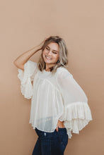 Cream Sheer Blouse