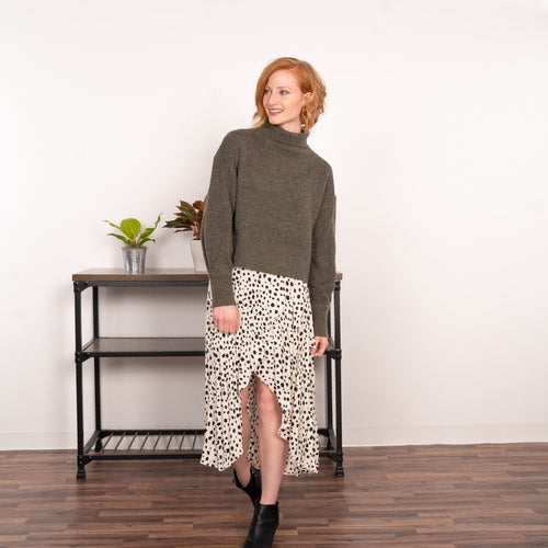 Uniquely Dotted Skirt
