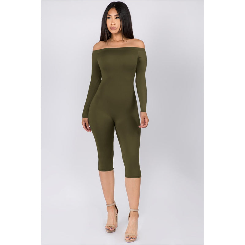 Rebel Basix Off Shoulder Jumpsuit