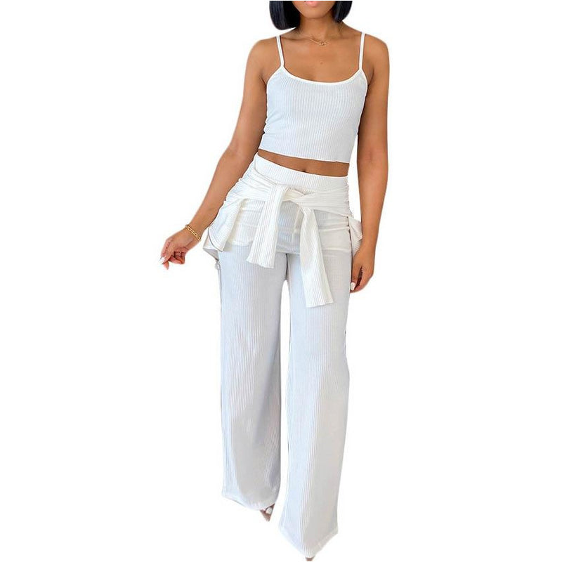 3-Piece Pants Halter Set