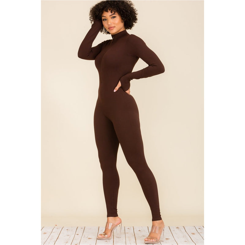 Rebel Basix Half Zipper Jumpsuit