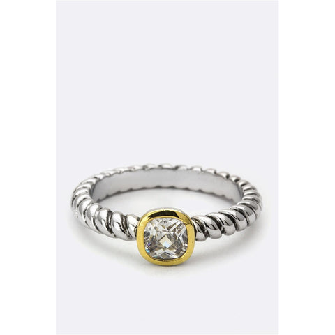 Twisted Gem Ring - CHARLI REBEL