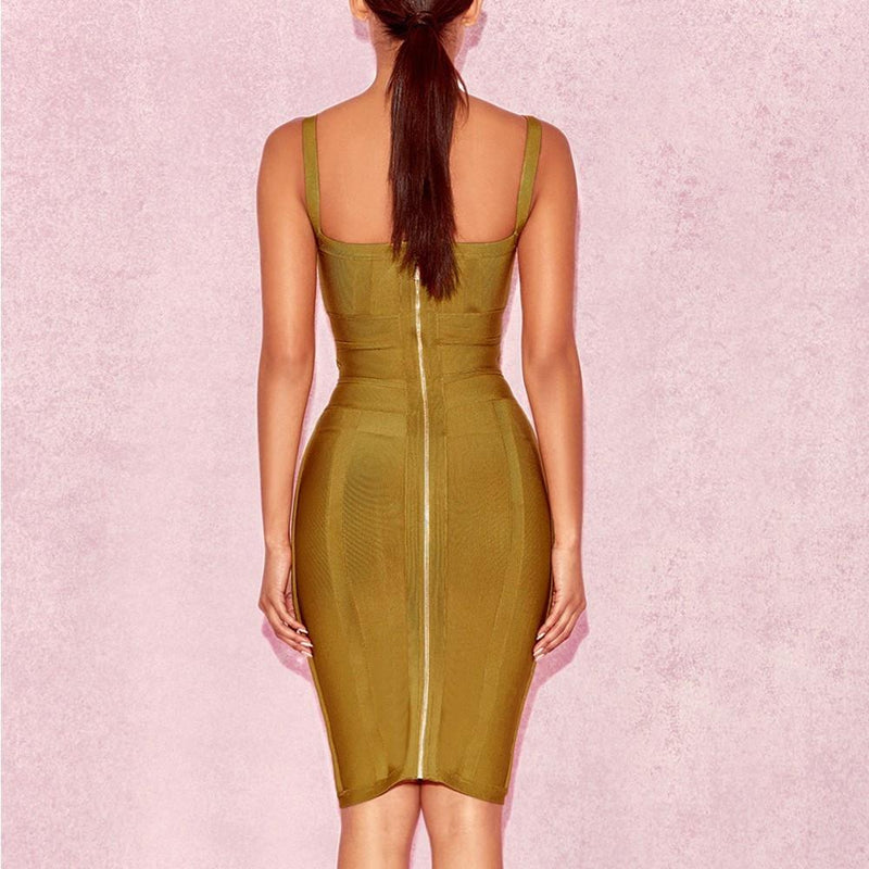 Ginger Tie Waist Bandage Dress - CHARLI REBEL
