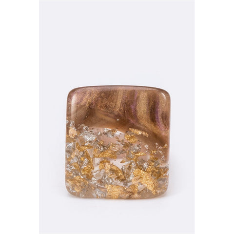 Iconic Square Resin Ring - CHARLI REBEL