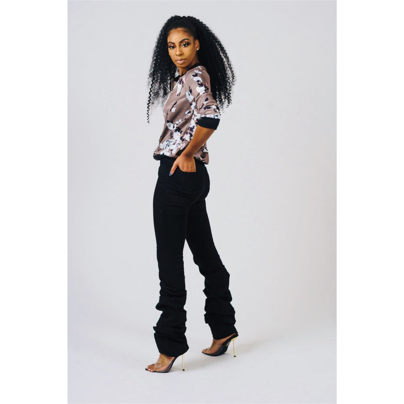 High Waist Stacked Jean (Black)