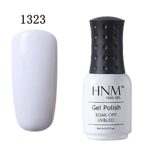 HNM 8ml UV Nail Gel Polish Quick Dry Gel Vernis Semi Permanent Gel Varnish Lacquer