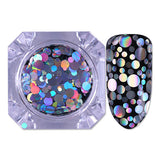 Nail juice Paillette For Nail Holographic Silver Flakies Colorful