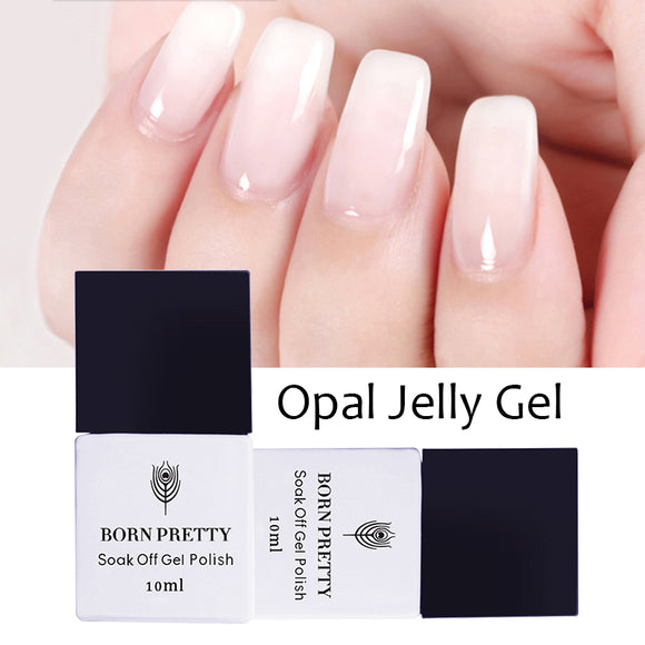 BORN PRETTY Opal Jelly Gel Polish 10ml 5ml White Soak Off UV