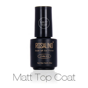 ROSALIND Black Bottle 7ML Matt Top Coat Gel Nail Polish