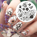 31 Designs Nail Juice Stamping Lace Starfish Flowers Animals Nail