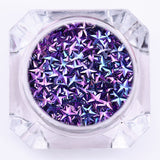 Unicorn AB Color  Sequins Chameleon Triangle Star Iridescent Flakies