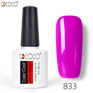 8ml primerbase coat, reinfor gel, no wipe top coat, matt top coat color gel nail polish
