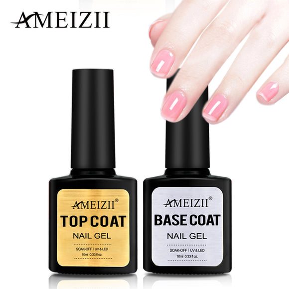 10ml Base Top Coat UV Gel Polish Transparent Soak Off Long Lasting