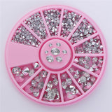 Mixed Silver Round Nail Rhinestones for Acrylic UV Gel 1.2mm/2mm/3mm/4mm